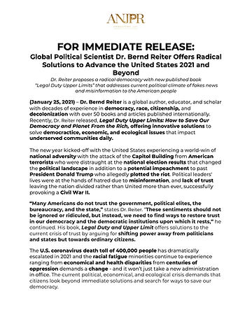 FOR IMMEDIATE RELEASE_ Global Political