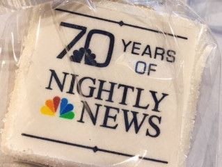 NBC Nightly News Celebrated Turning 70 with Let Them Eat Cake, NYC!