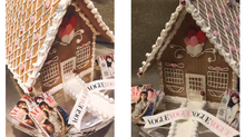 Branded Gingerbread Houses Yes, you read that right!