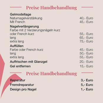 Preise Handbehandlung