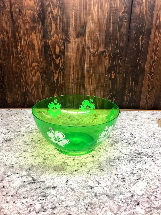 Plastic green bowl