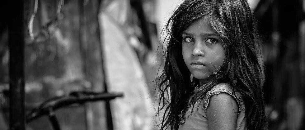 young child loking sad