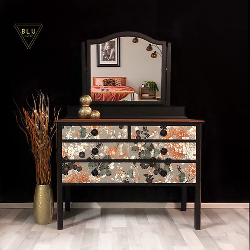 Gaultier Dressing Table, Chest Of Drawers, Black Drawers