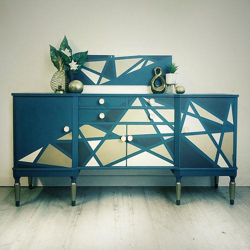 Blue Sideboard, Blue Drinks Cabinet, Drinks Sideboard, Cocktail Sideboard, Buffe