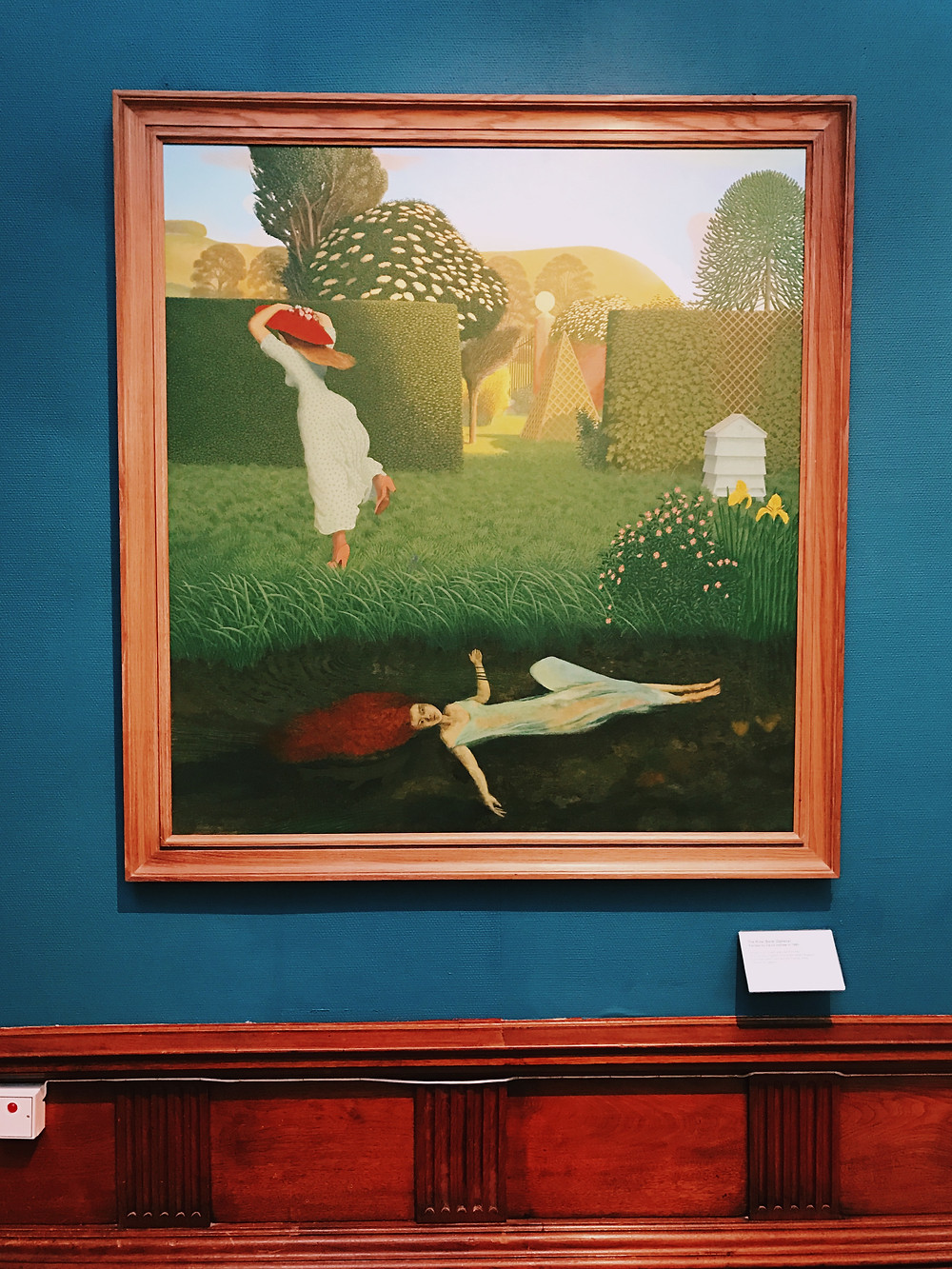"""The River Bank (Ophelia)"" by David Inshaw, 1980; Photo by Phillip Trey"