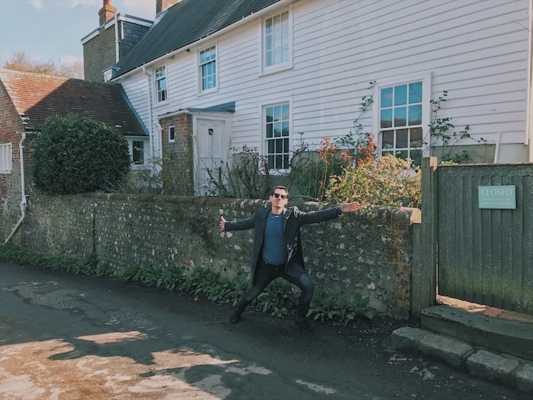 Phillip Trey outside Virginia Woolf's country home