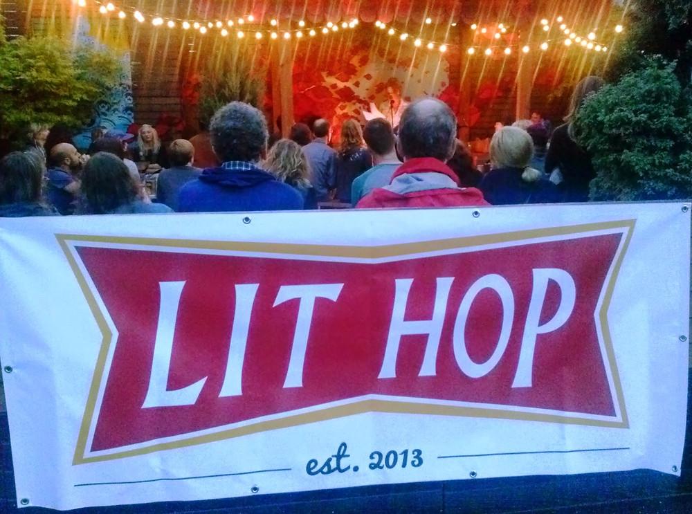 The Lit Hop Banner, with Loretta Stinson reading for Hawthorne Books.jpg