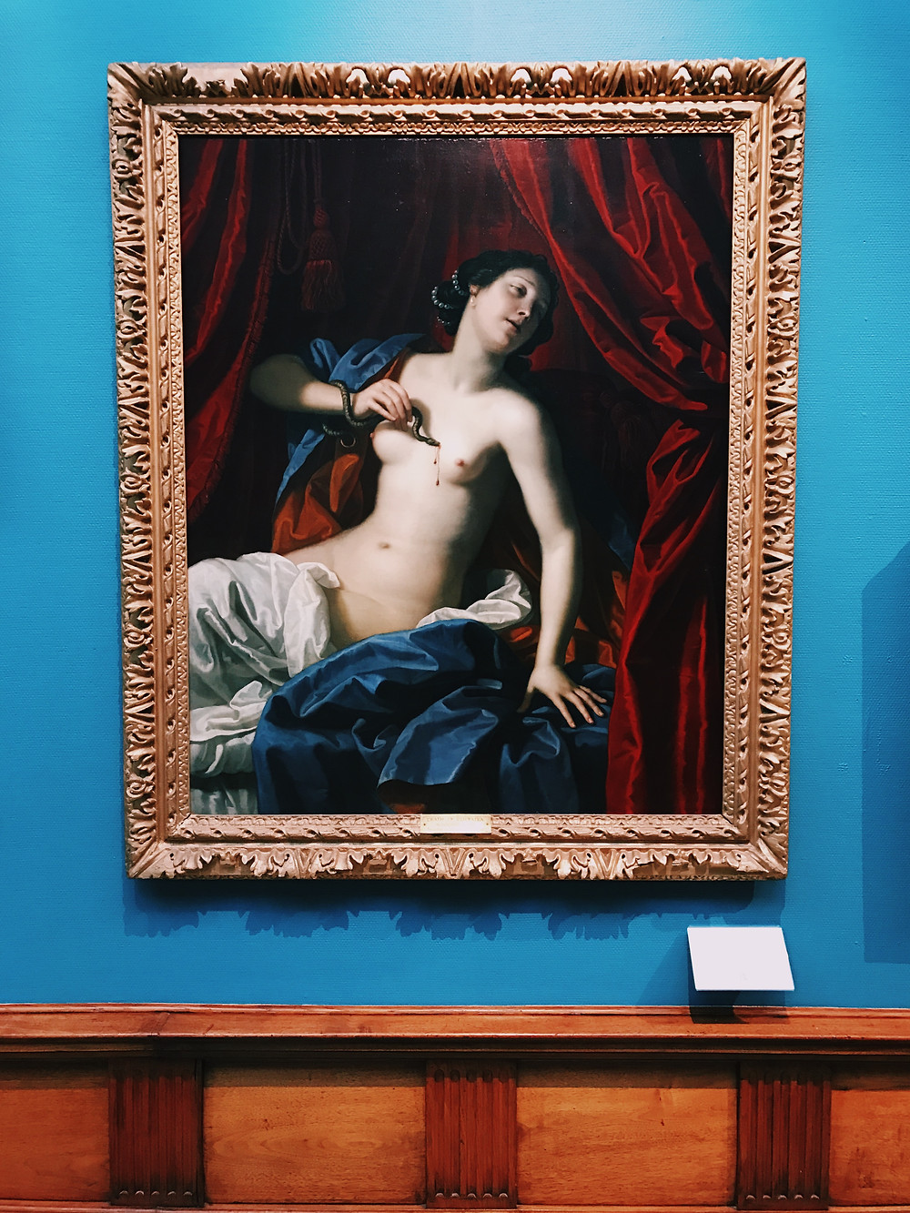 """Death of Cleopatra"" by Benedetto Gennari, 1686; Photo by Phillip Trey"