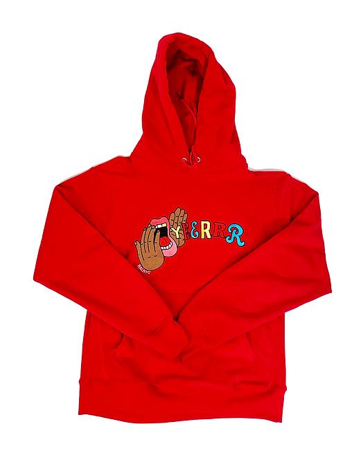 "Yeerrrr  ""RED"" Embroidered Hoodie"