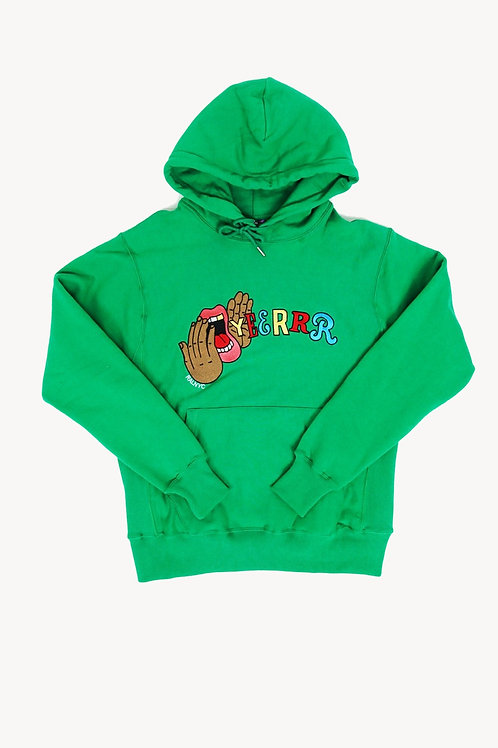 "Yeerrrr ""GREEN"" Embroidered Hoodie"