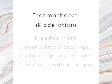 September Theme of the Month: Brahmacharya (Moderation)
