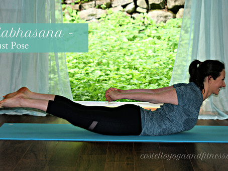 Allow Salabhasana to ease you back into your body and practice this January