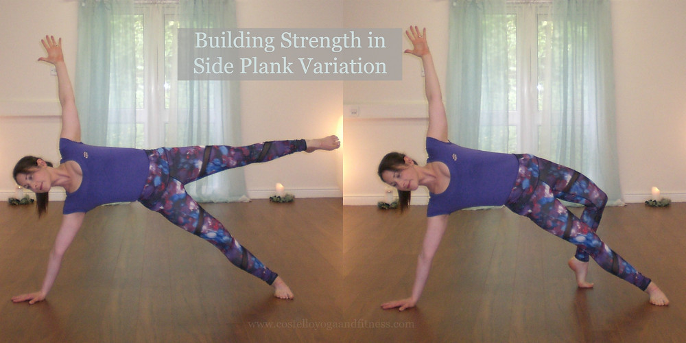 Building Strength in side plank for Wild Thing