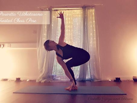 Detoxify Your Body and Mind in Parivrtta Utkatasana (Revovled Chair Pose)
