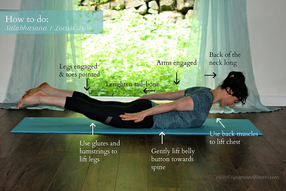 How to do Salabhasana / Locust Pose