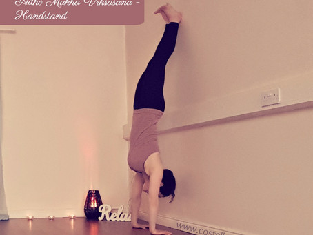 Lets Do a Handstand!                            June Pose of the Month