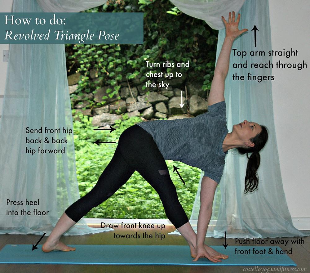How to do Revolved Triangle Pose