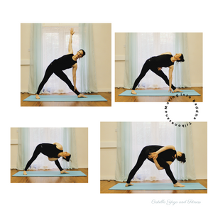Moving into Baddha Trikonasana