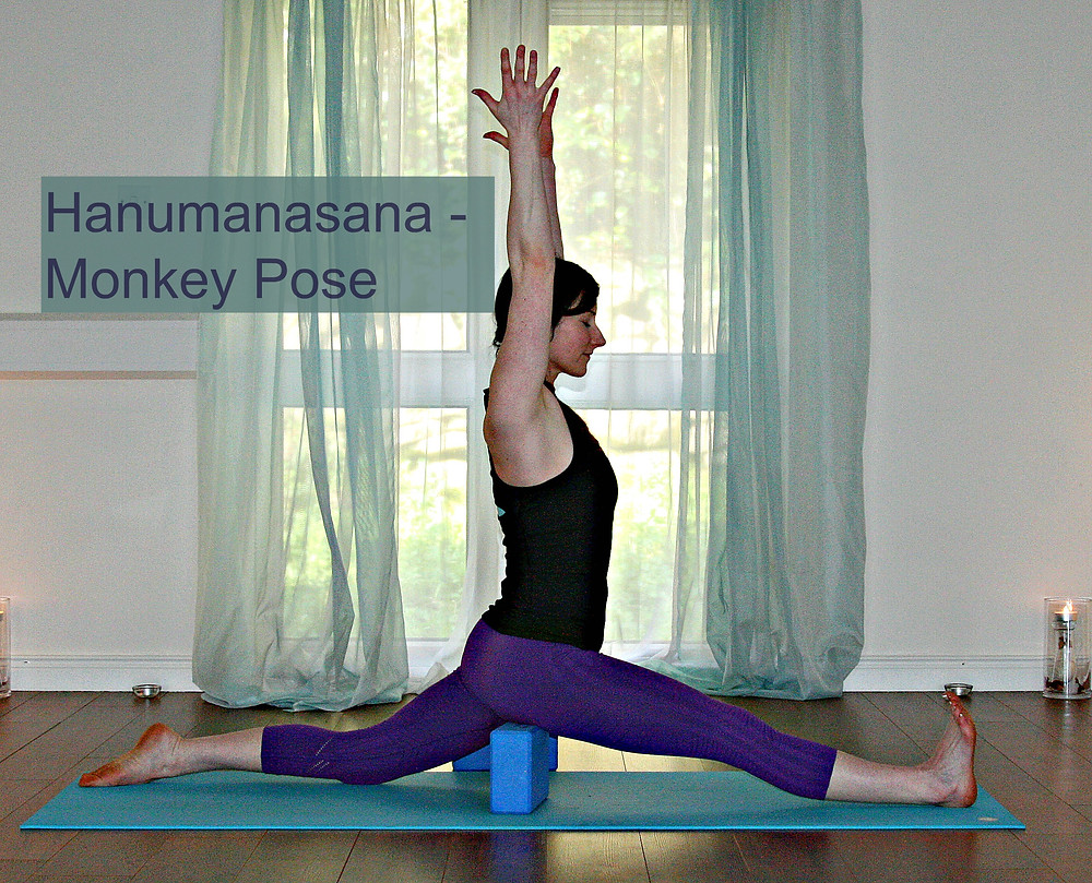 Supported Hanumanasana