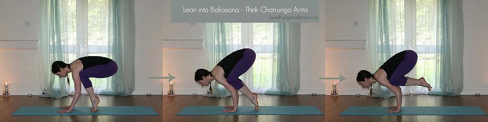 Lean into Bakasana