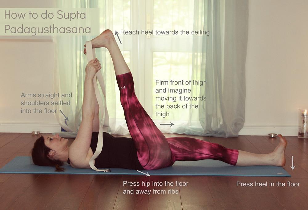 How to do Supta Padagusthasana