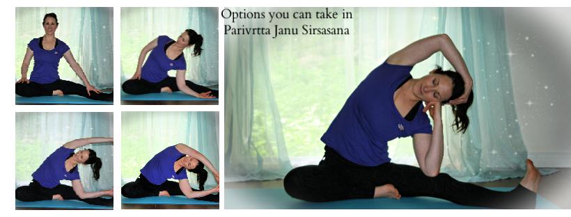 Options you can take in Parivrtta Janu Sirsasana