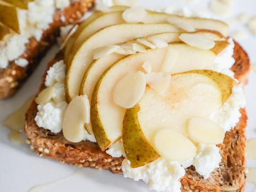 Ricotta Pear & Almond Breakfast Toast