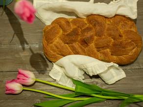 Treccia di pane integrale