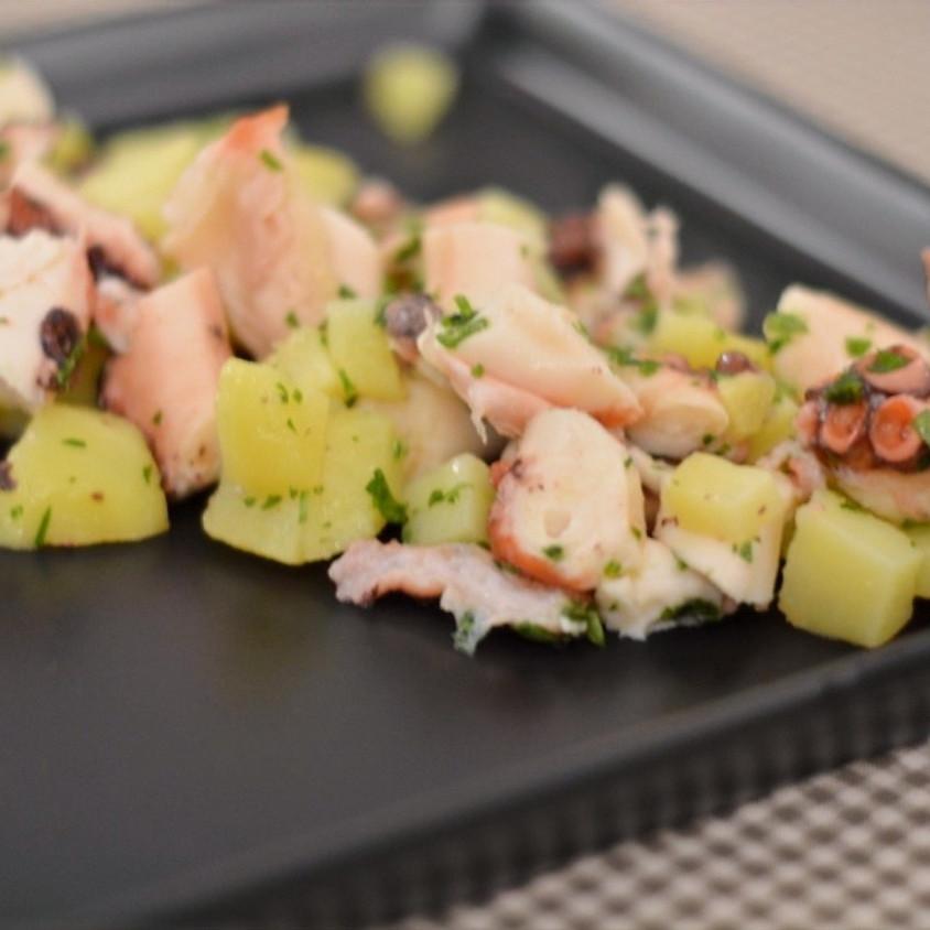 Polpo, calamari e seppie in insalata