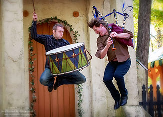 drums and pipes jumping-Piper-Jones-Sess