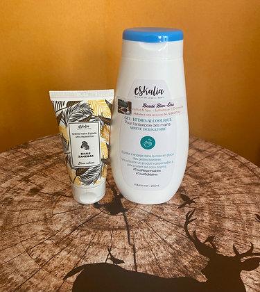 Gel Hydro-alcoolique & Crème Mains Zanzibar - ESKALIA
