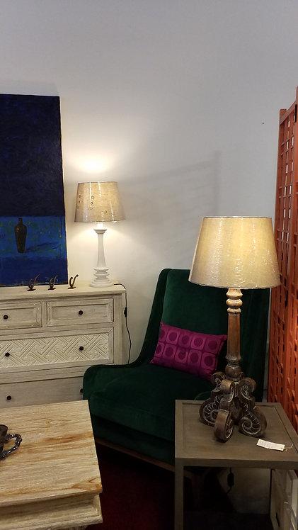 Table Lamp Grey & Earth