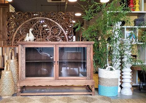 Dora Mesh Glass Cabinet 130