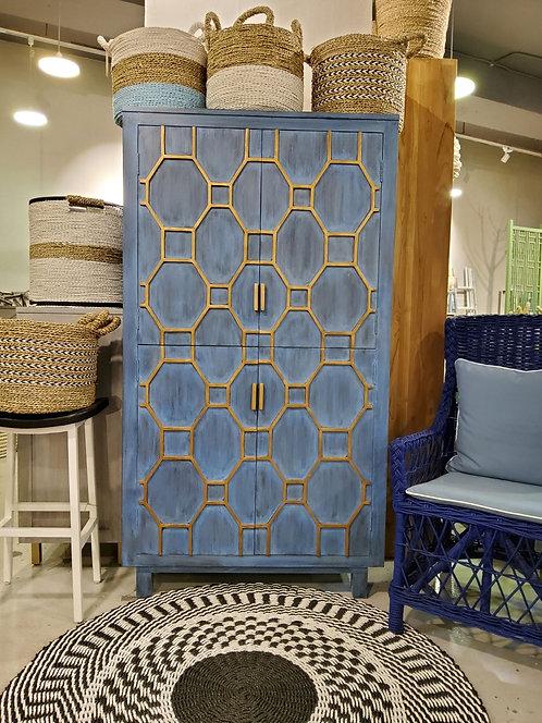 Grid 4 Door Bar Cabinet
