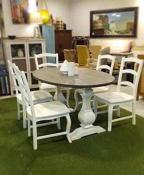 Grange Pedestal Oval Dining Table 160