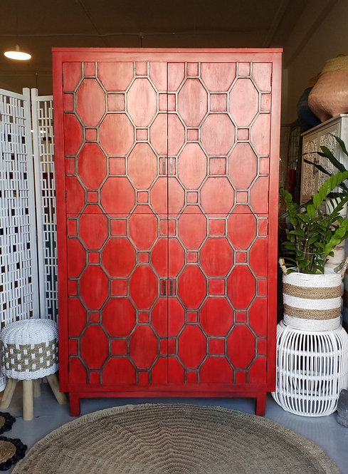 Grid 4 Door Tall Cabinet