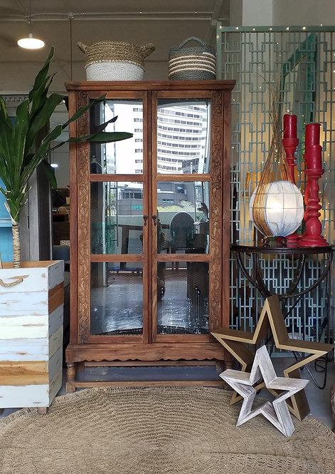 Dora Mesh Glass Cabinet