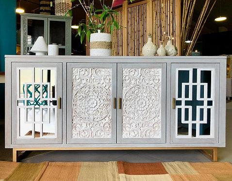 Moshley Mirrored Door Cabinet