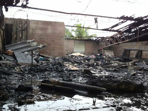 Galpão de Artes em Ilhabela é atingido por incêndio