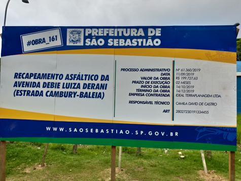 RECAPEAMENTO ESTRADA CAMBURY-BALEIA