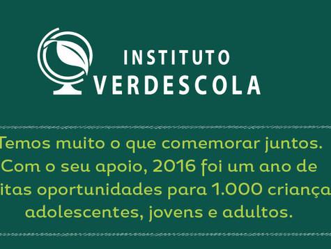 Instituto Verdescola - Nossas Conquistas 2016