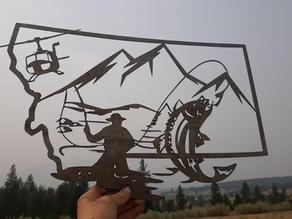 UH1 Montana Map Fish