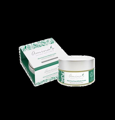 Amina's Natural Aloe Vera Face & Cream 120ml