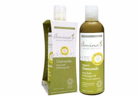 Amina's Organic Baby Bath & Massage Oil