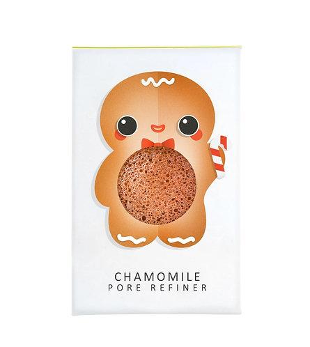 Konjac Mini Pore Refiner Gingerbread Man with Chamomile
