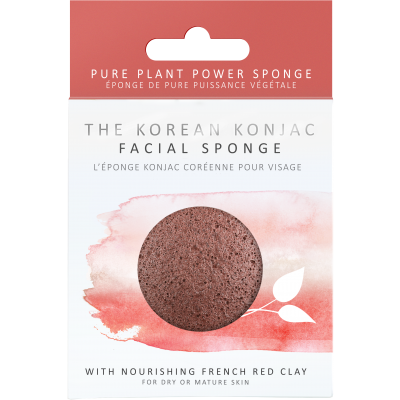 Konjac Facial Puff with French Red Clay