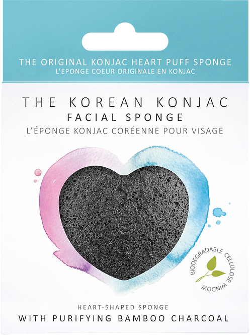 Konjac Heart Sponge with Bamboo Charcoal