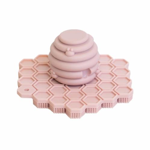 Big Bee Little Bee Big ScrubBEE Silicone Scrubber: Rose Quartz