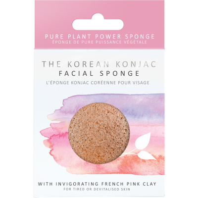 Konjac Facial Puff with French Pink Clay