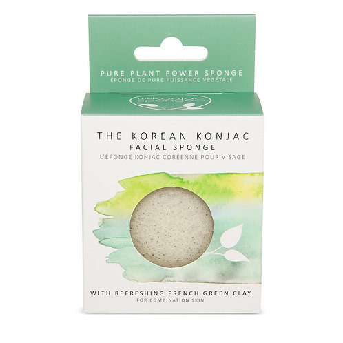 Konjac Facial Puff with French Green Clay